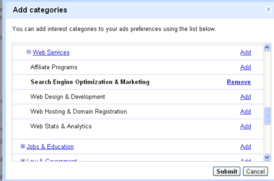 Interest Categories