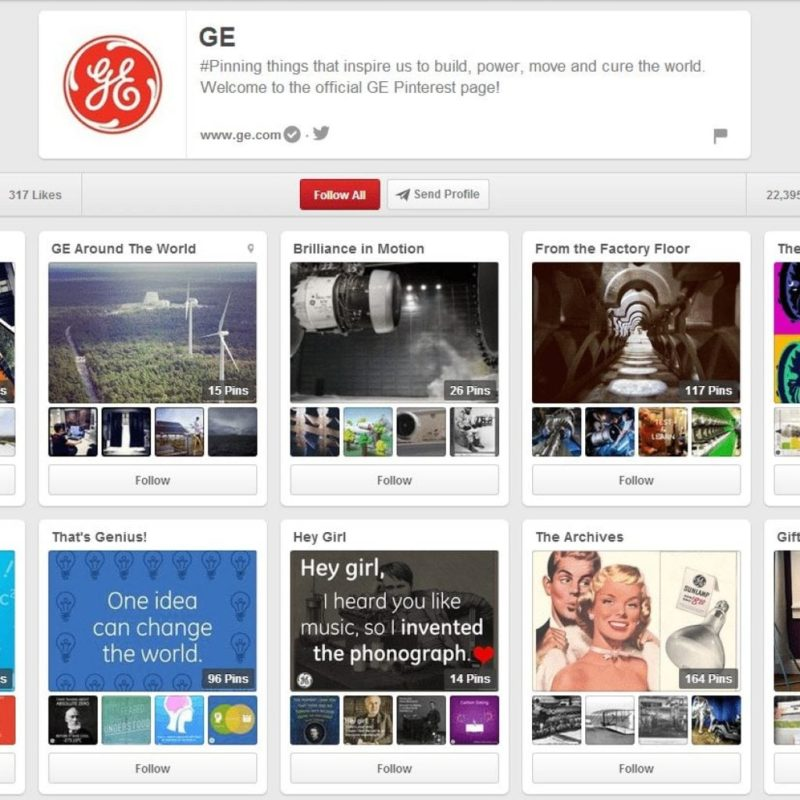 GE Pinterest Page