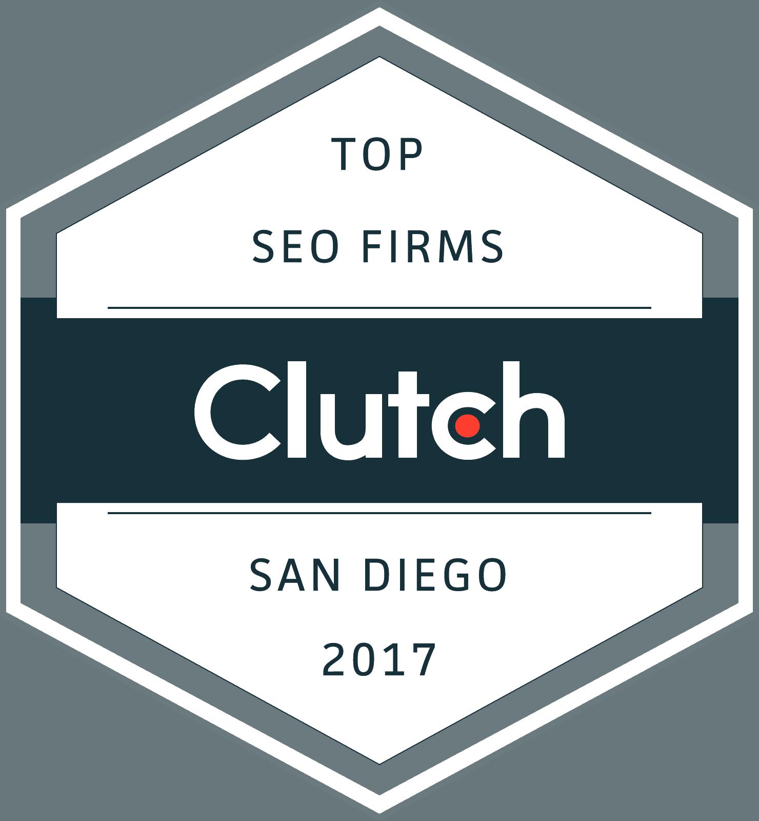 Clutch.co Top SEO Firm in San Diego Award 2017