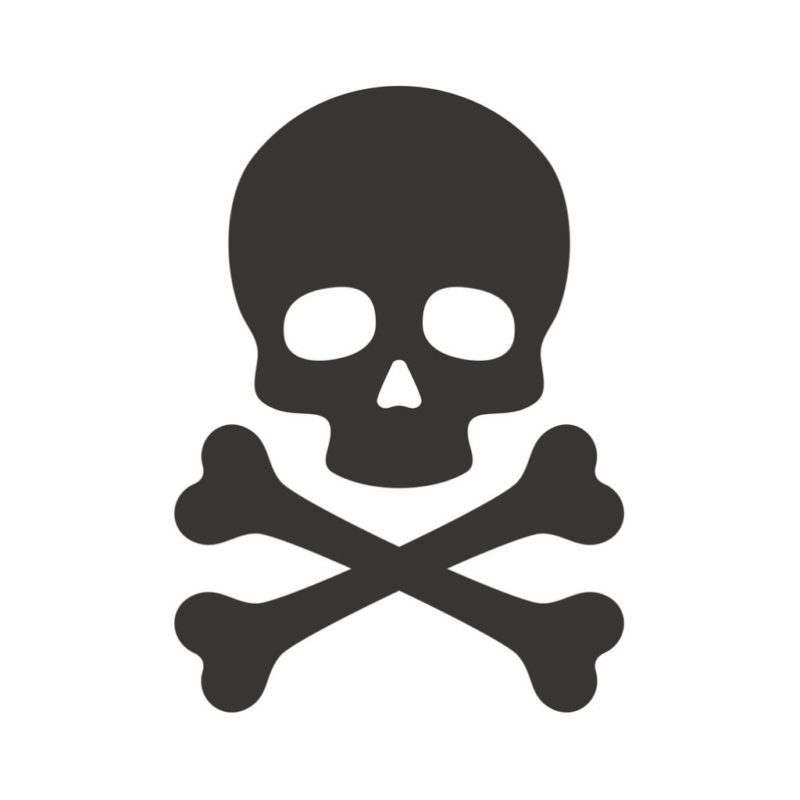 Skull and Crossbones for Toxic Links