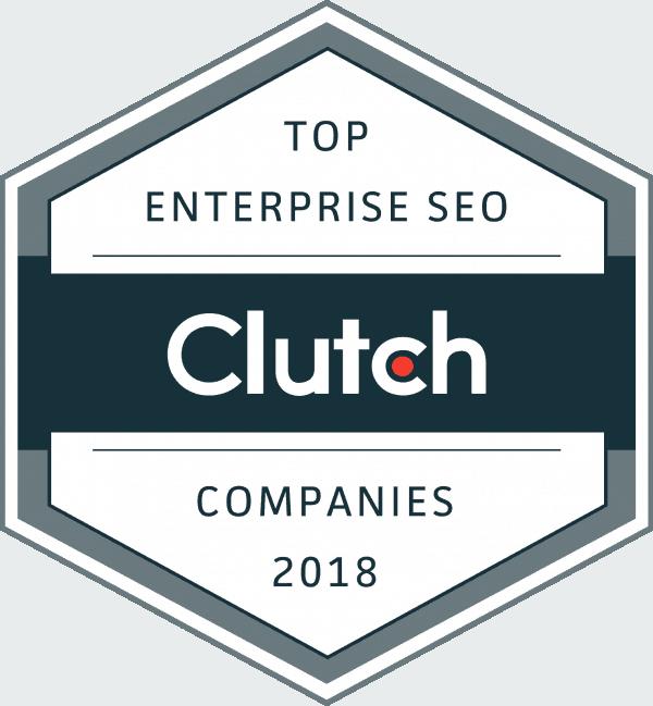 top enterprise seo companies 2018 clutch award