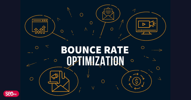 bounce rate optimization blog header with money icon, desktop icon, mail icon