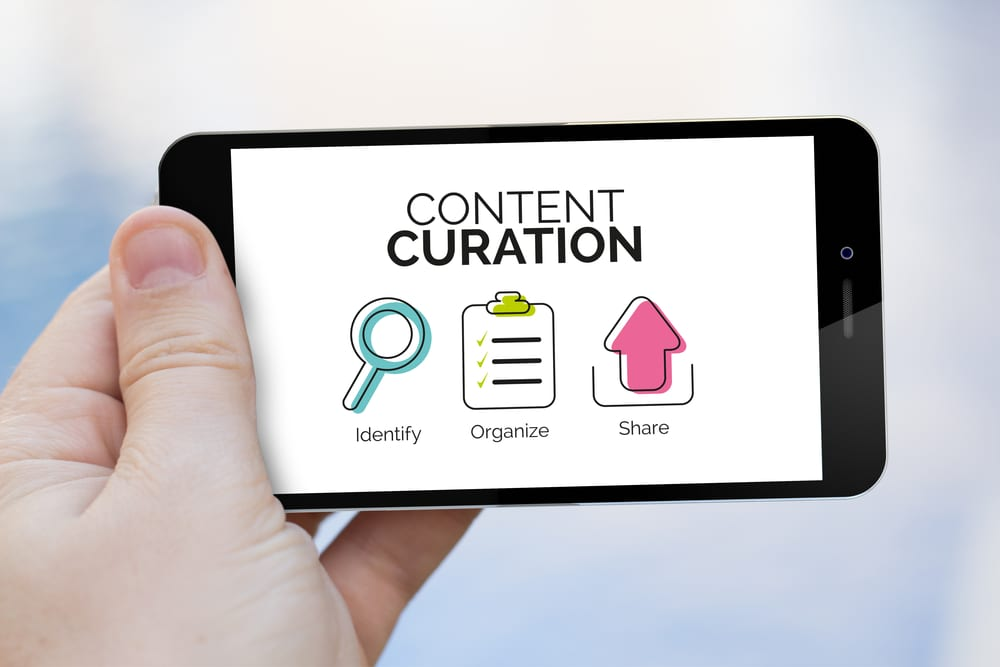 content curation icons mobile
