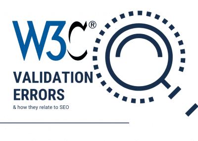 W3C Validation Errors SEO