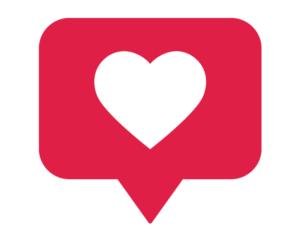 Social Media Like/Heart Graphic