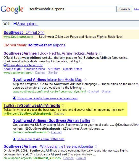 SouthwestAir Airports Twitter Lists Results