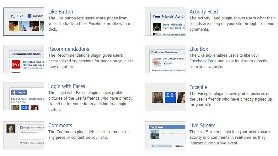 Facebook Developers Plugin Section