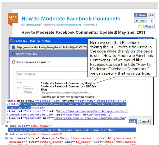 Facebook Open Graph Title Specification