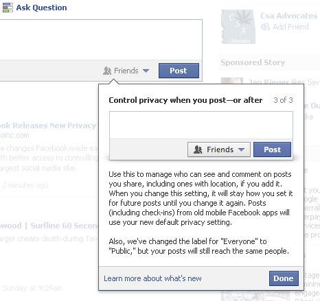 Facebook Control Privacy