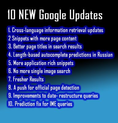 10 New Google Search Engine Optimization Updates
