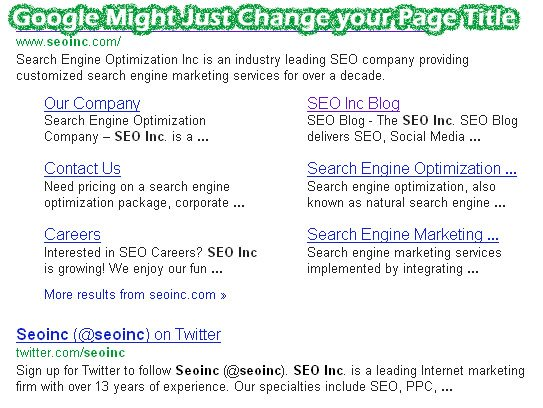 Google Changing Page Titles in Search Results
