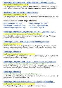 Bing Results for San Diego Attorney