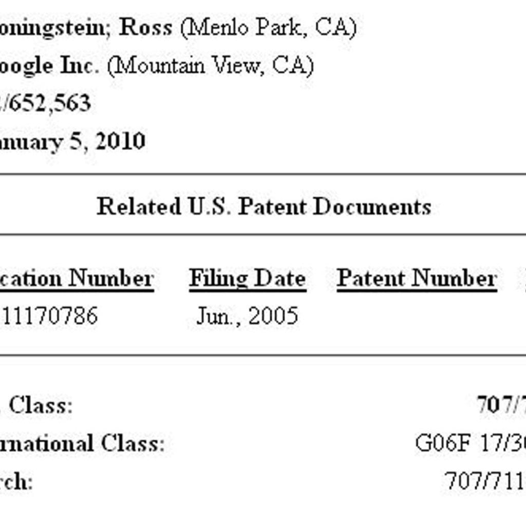 Google Search Patent Jumbles Rankings