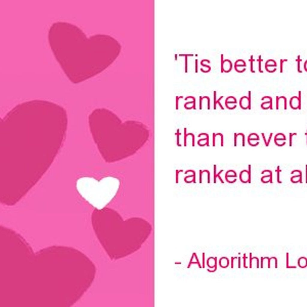 SEO Valentine's Day cards from Search Engine Watch lead today's links.