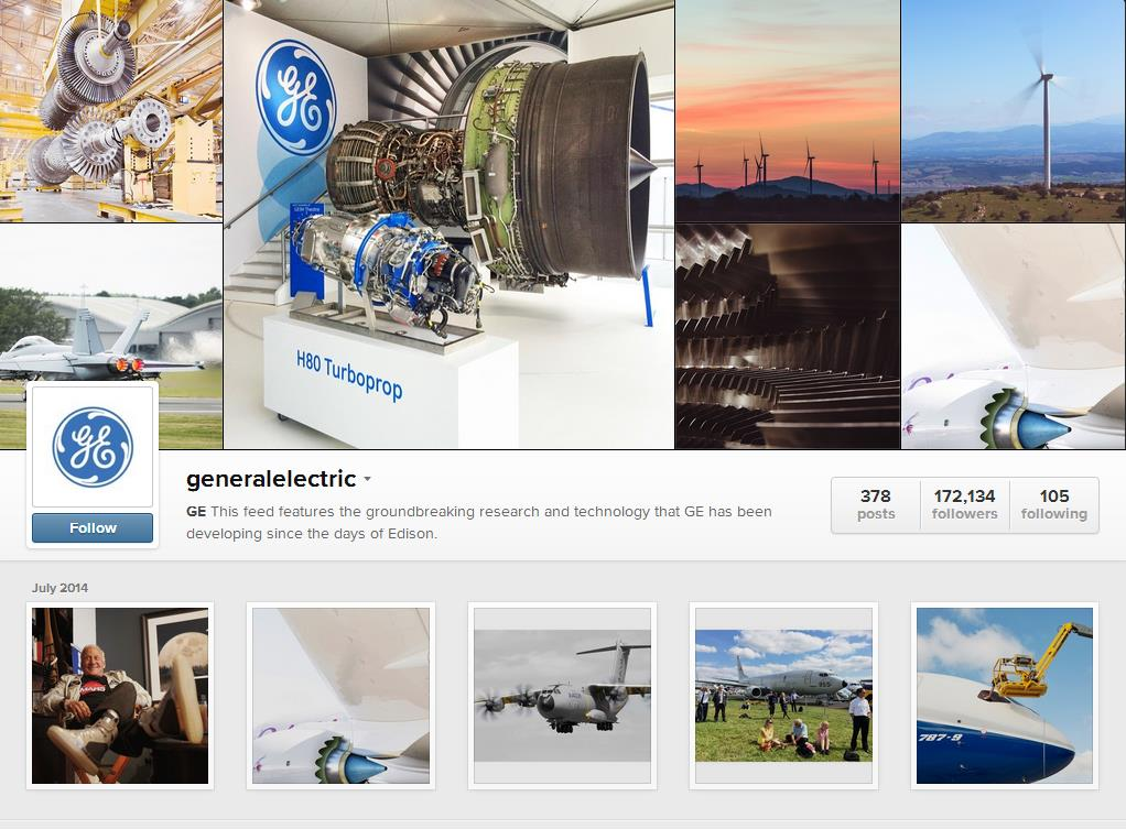 GE Instagram Page