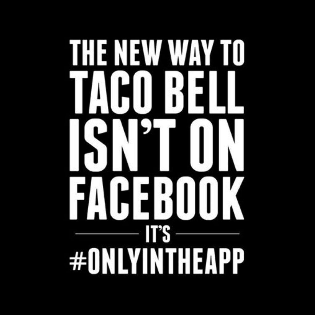 Taco Bell's Social Media Goes Black: They've Wiped Out Their Social Profiles to Promote New App