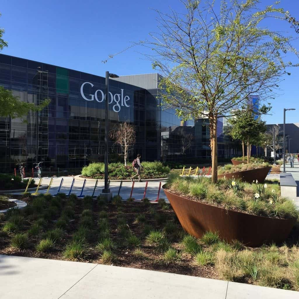 The Googleplex, Google's headquarters located in Mountain View, California.