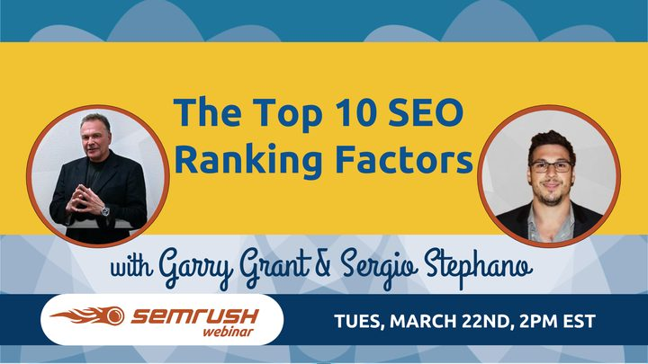 Join SEO Inc. and SEMrush present the top 10 SEO ranking factors of 2016.