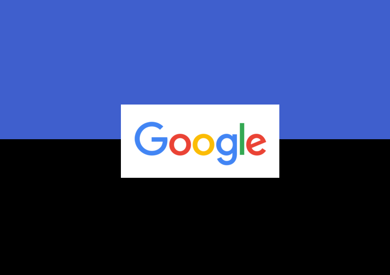 Black Google text changing to blue is one of Google's latest experiments. We'll see if it lasts.