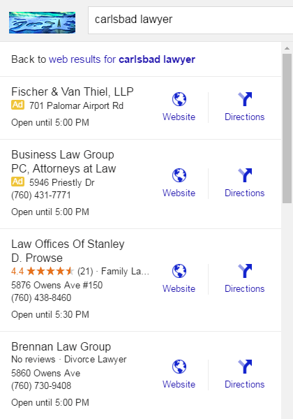 "Google is experimenting with local advertising in the local finder, which show above the regular results with a yellow ""Ad"" label."