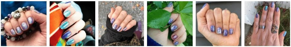 nail polishes, manicured hands