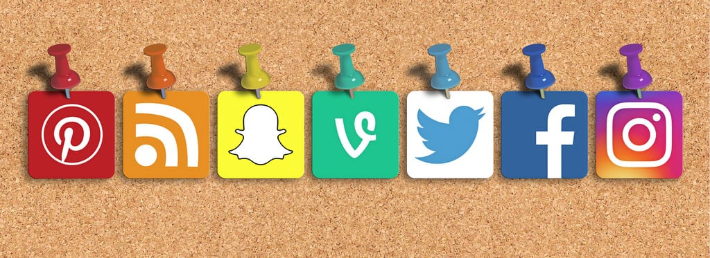 social media icons - pinterest snap chat vine twitter Facebook Instagram