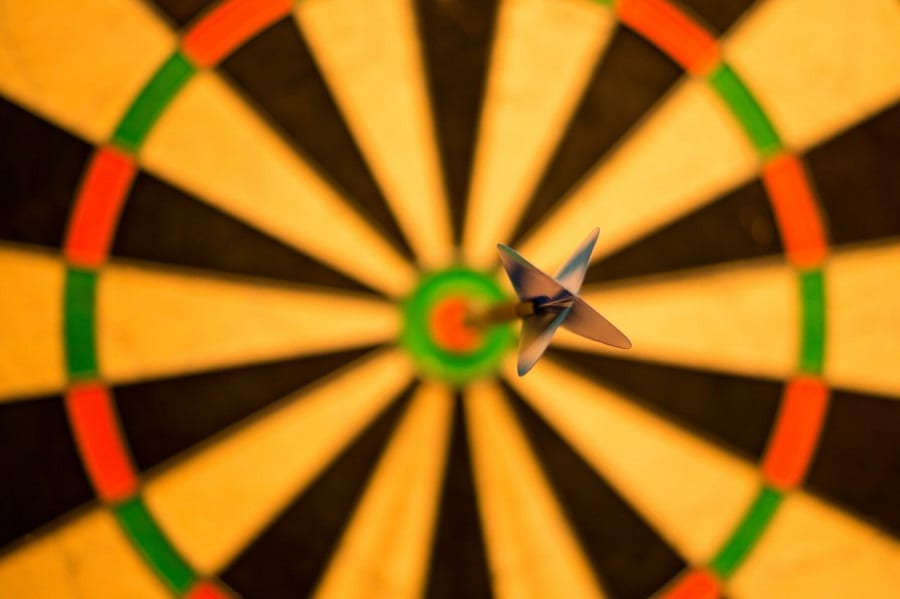 bulls eye dart in center of bulls eye