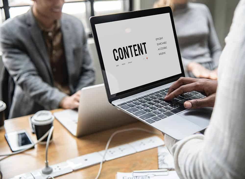 Quality Content -Laptop with the word Content