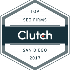 Clutch.co Top SEO Firm in San Diego Award 2017