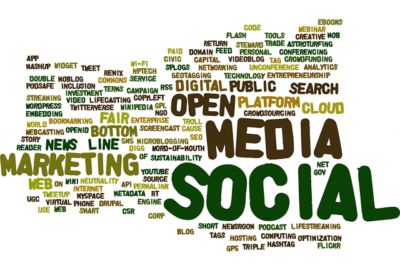marketing word cloud image all words to do with the internet and code